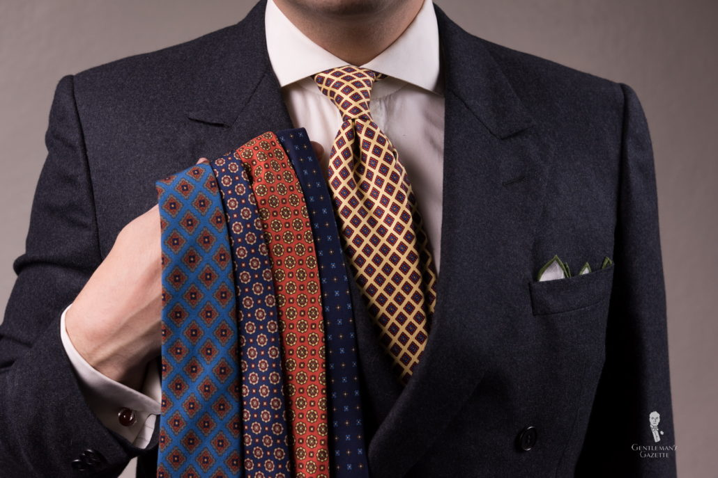 micropattern ties by Fort Belvedere