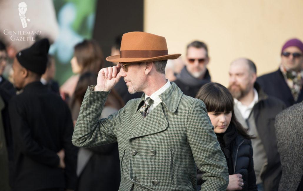 Green Tweed Overcoat