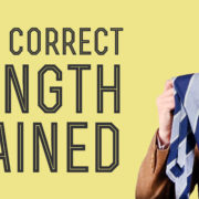 proper & correct tie length