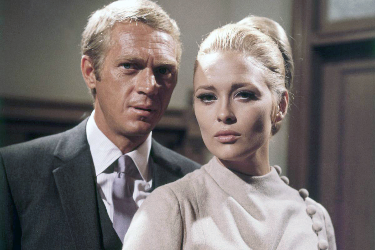 Steve McQueen and Faye Dunaway on the set of The Thomas Crown Affair