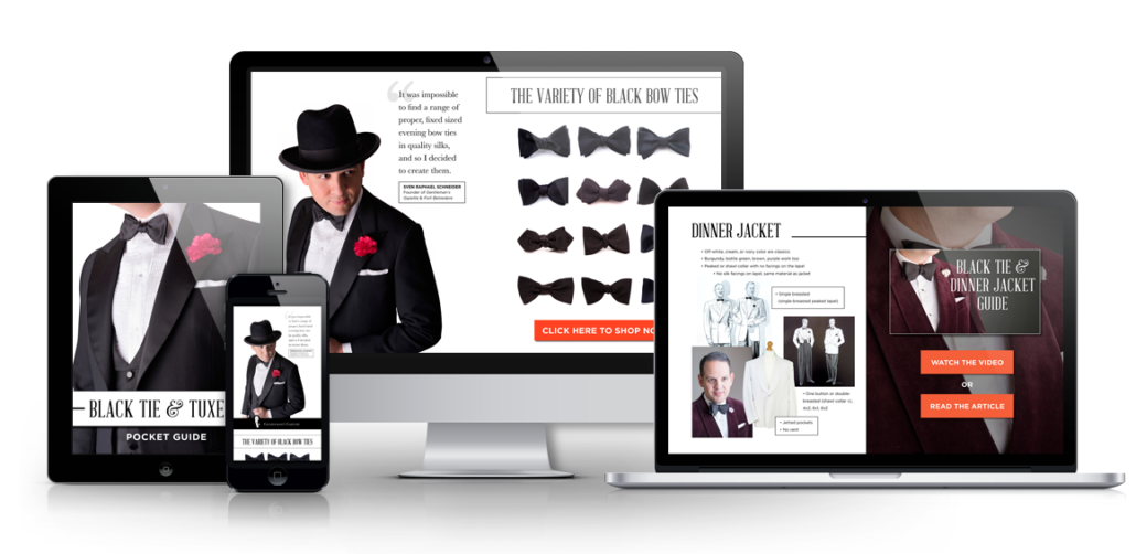 Black Tie Pocket Guide mockup multi-screen2