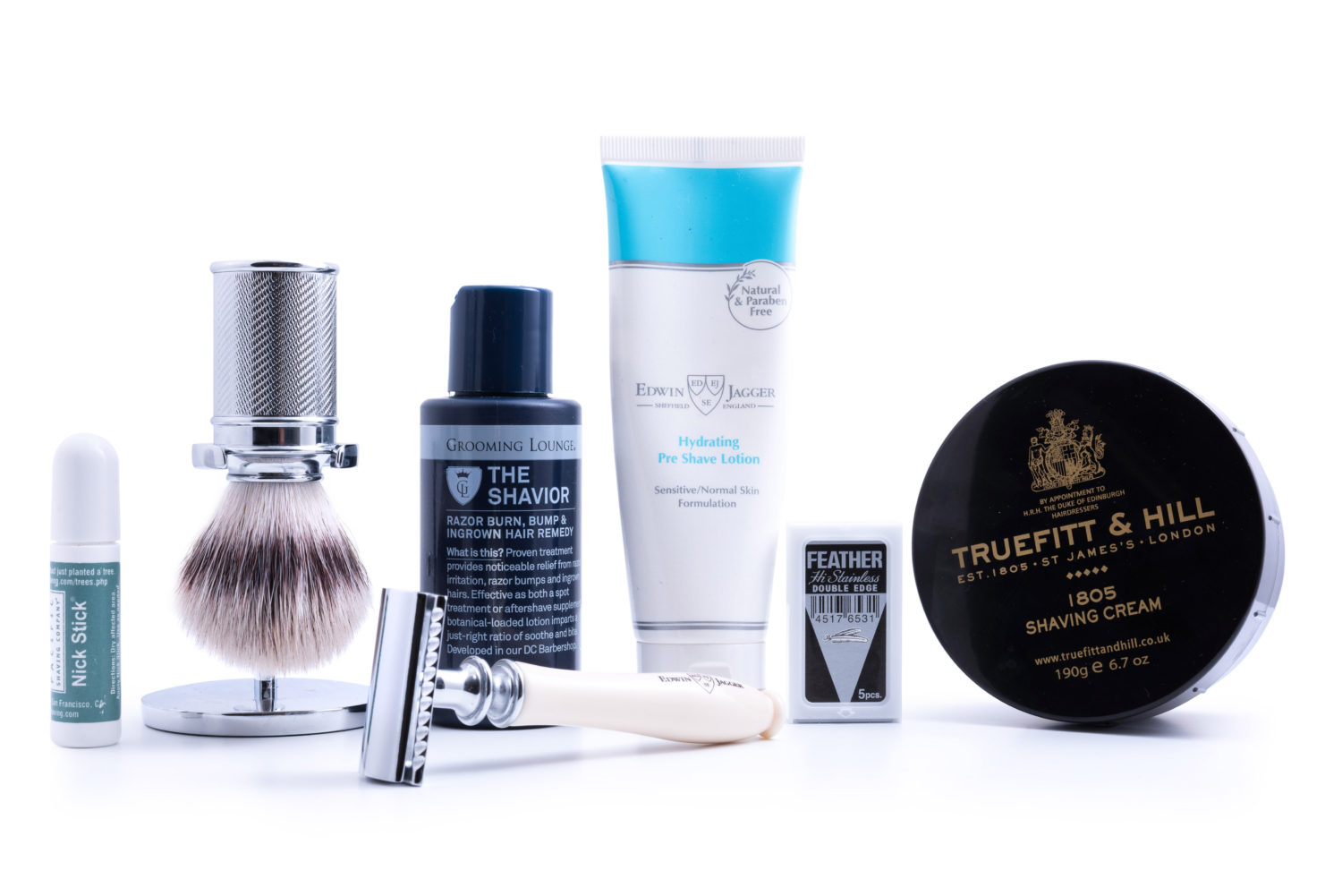 Good products will help you shave more efficiently with fewer nicks and cuts