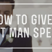 How to Give a Best Man Speech
