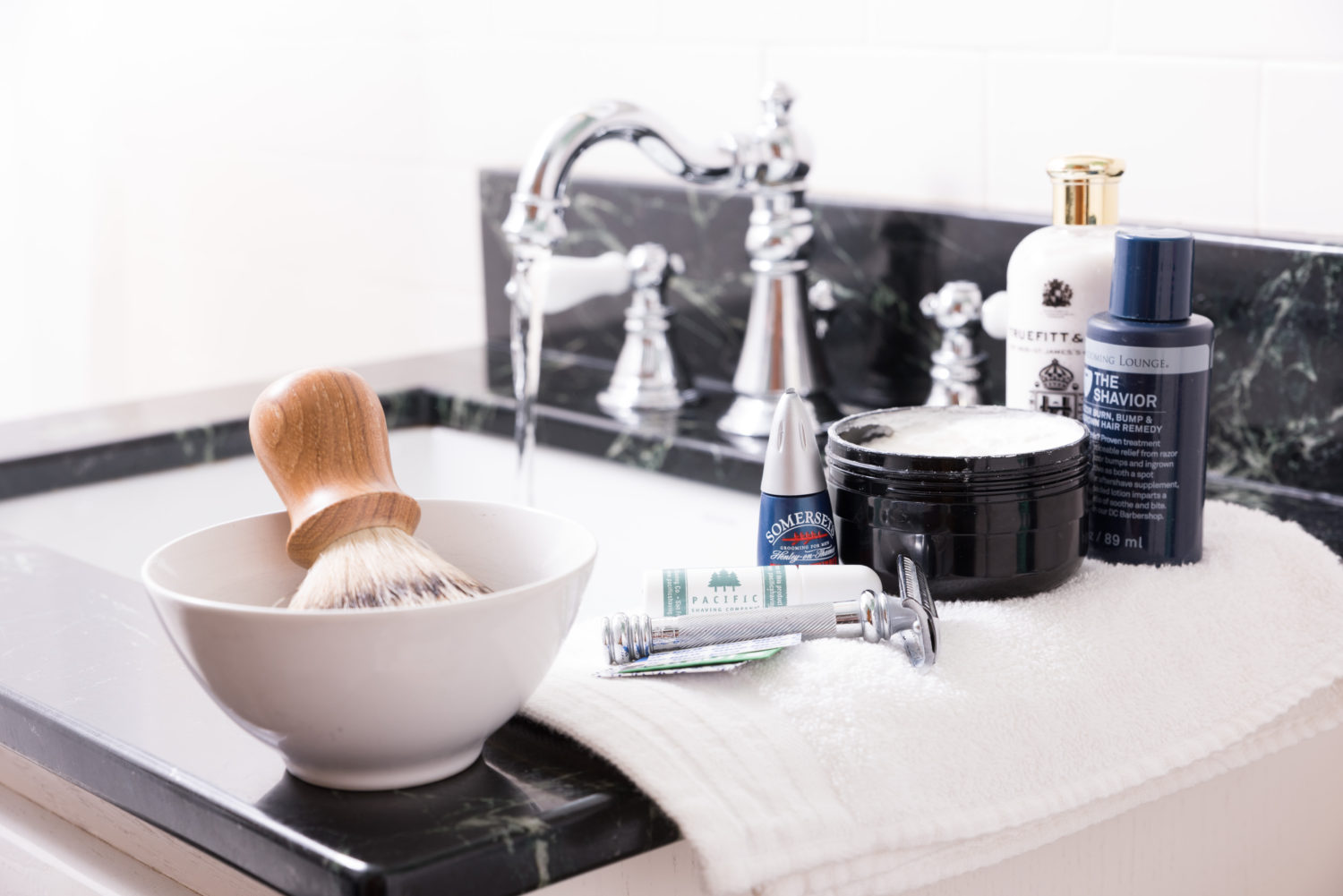 Set up your bathroom and do a proper pre-shave to get the best results