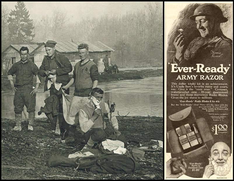 Shaving during World War I