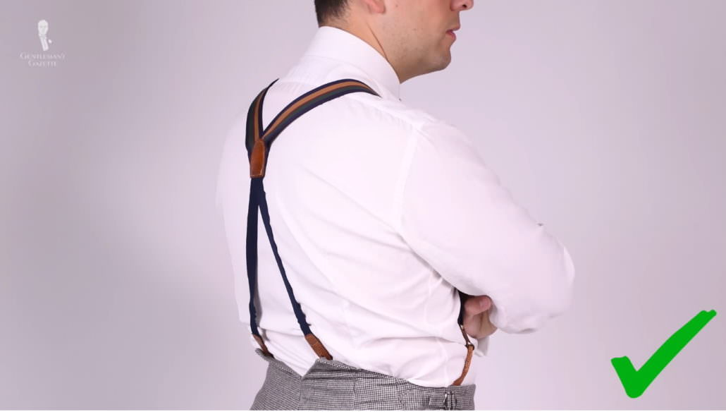 When wearing suits, suspenders are more flattering compared to belts