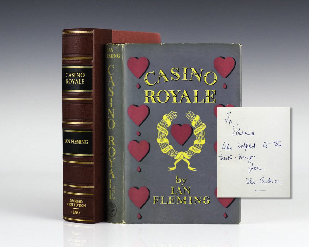 A first edition of Casino Royale, 007s first novel, dedicated to his secretary by Ian Fleming
