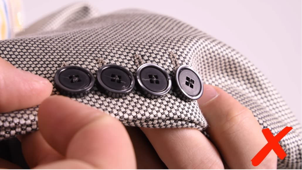 Cheap contrasting plastic buttons