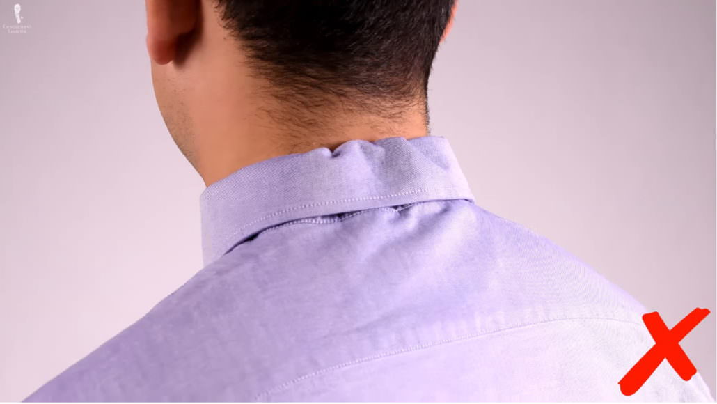 collars that are too big, it creates unsightly creases