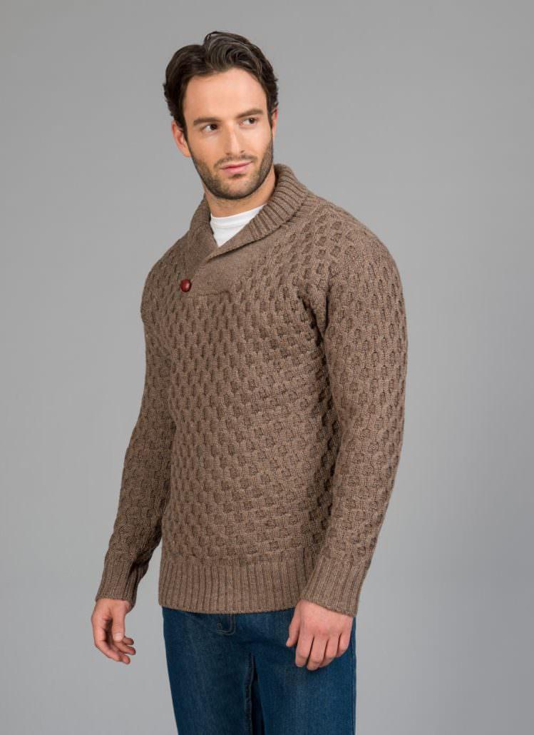 Blarney Woolen Mills Shawl Collar Sweater