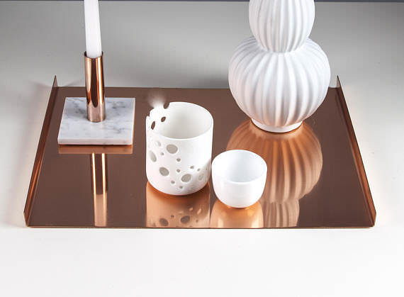 Copper Rose Gold Tray