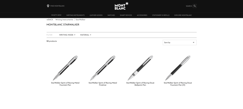 Mont Blanc Star Walker Series