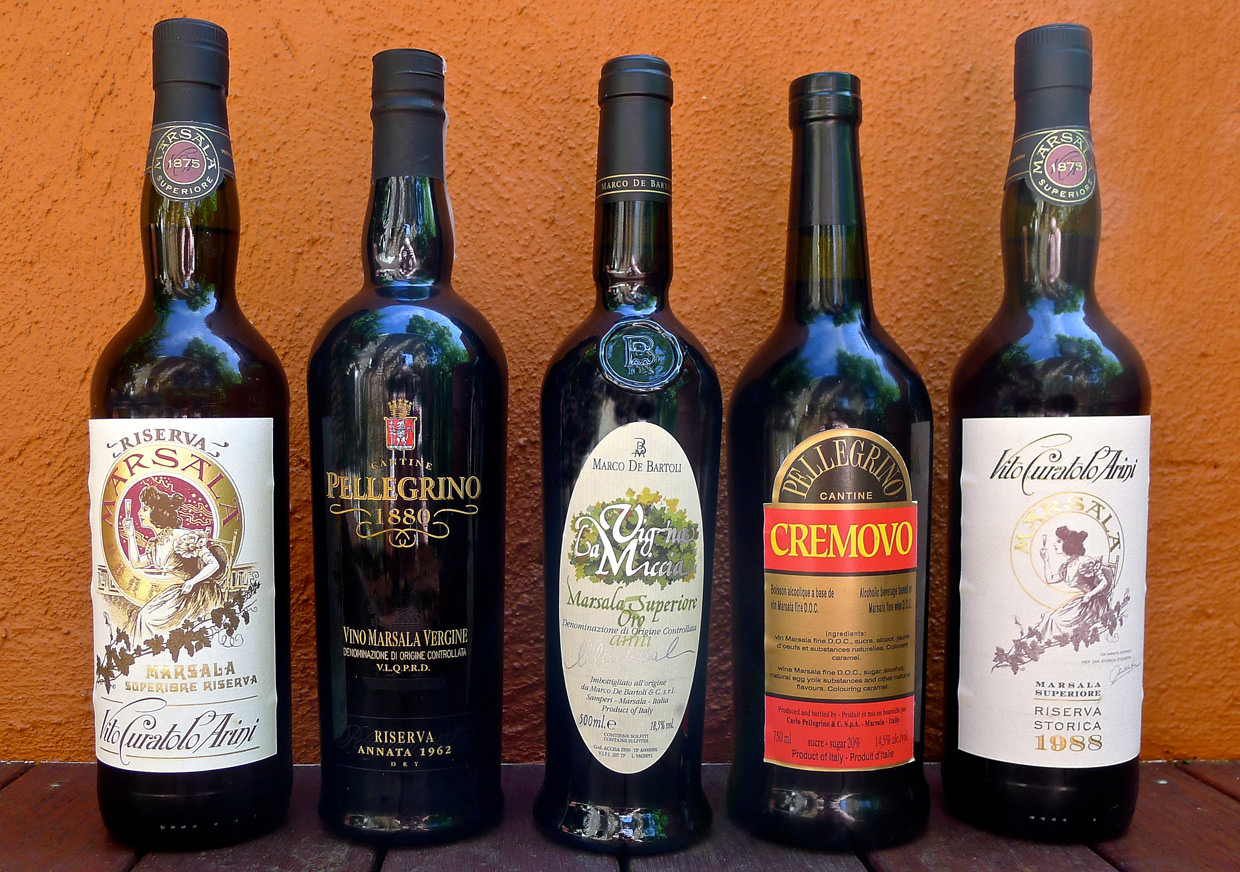 Some examples of Marsala wine