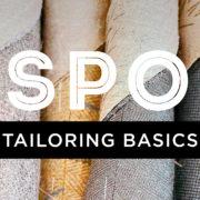 bespoke tailoring basics