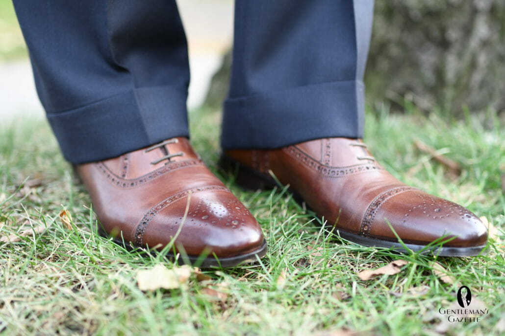 Half Brogue Cap Toe Brown Antique