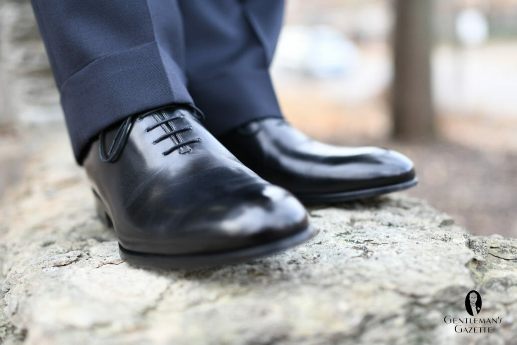 Wholecut Oxford Plain Toe Black Antique