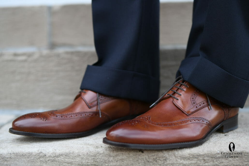 Wingtip Cognac Antique