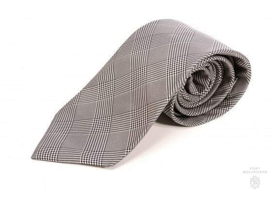 A black and white glen check tie from Fort Belvedere