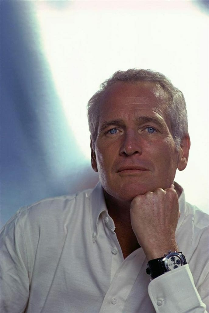Paul Newman with his emblematic wristwatch