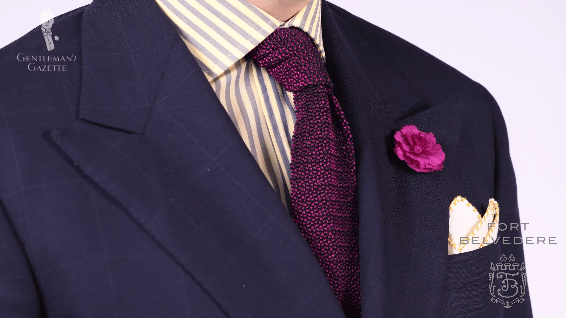 5 ways to wear a knit tie shopoyo for Navy suit black shirt