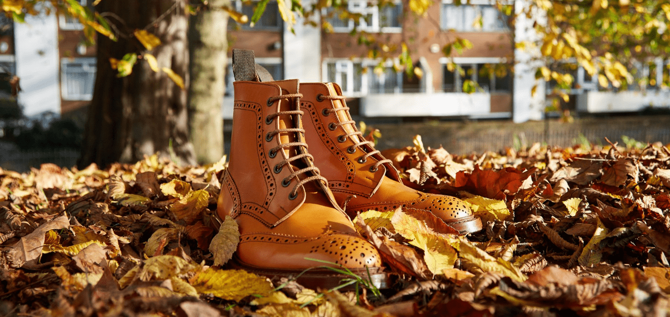 Jermyn Street The Ultimate Shopping Guide Gentlemans Gazette Cut Engineer Crocodile Safety Steel Genuine Leather Brown A Typical Country Brogue Boot In Trickers Style