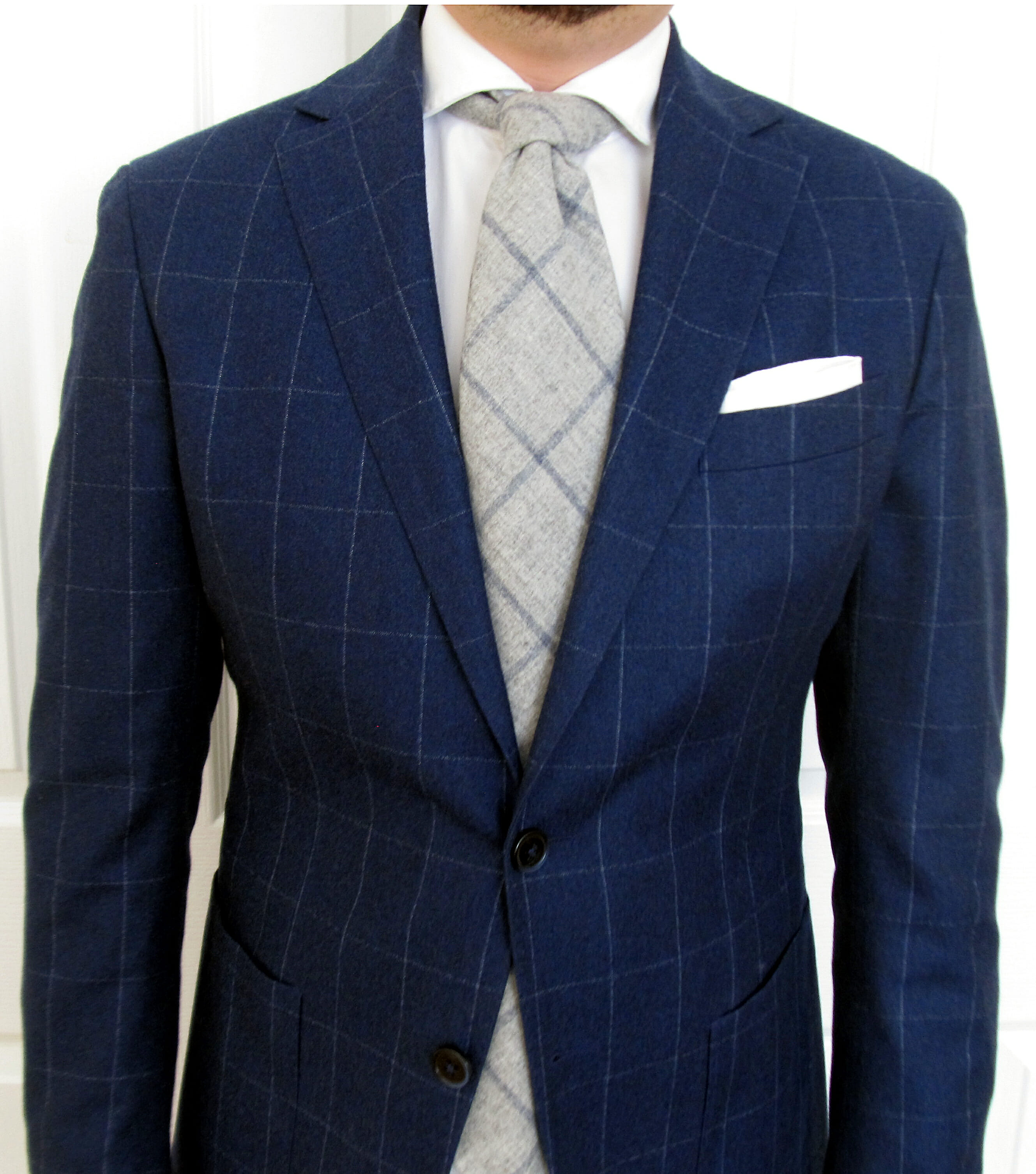 How To Wear Blue Gray A Classic Menswear Color Combination Tendencies Navy Chinos Short 28 Windowpane Suit With Tie