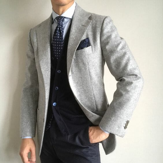 Grey jacket combination