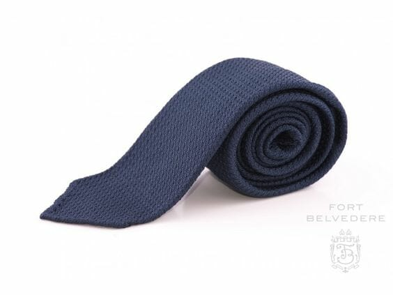 A classic Navy grenadine tie from Fort Belvedere
