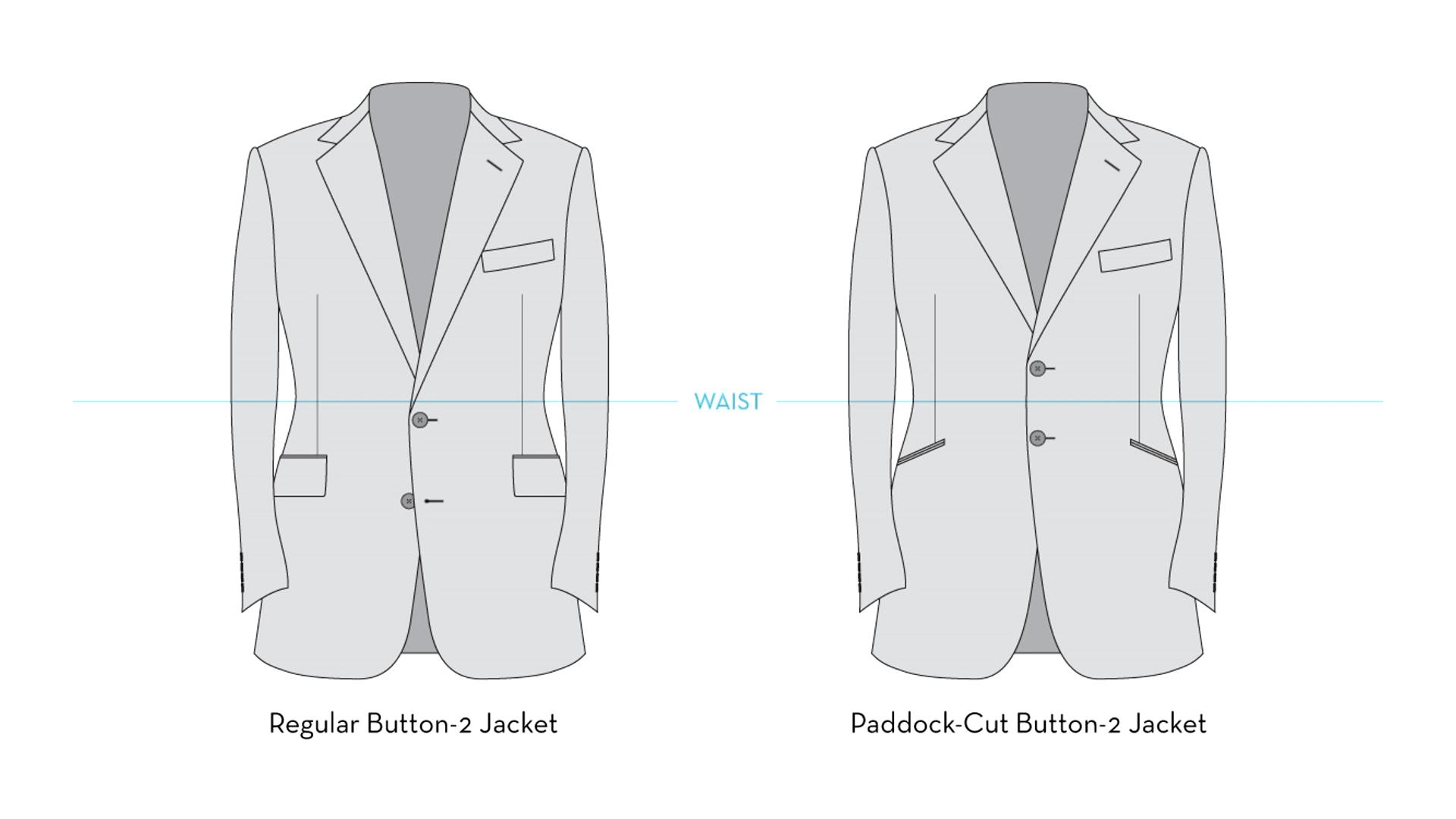 Mens Classic Fit Solid Black Two Button Suit Jacket Blazer