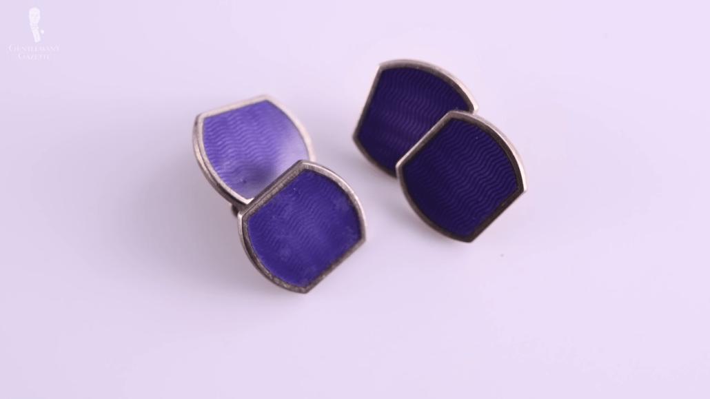 Purple Monkey Cufflinks