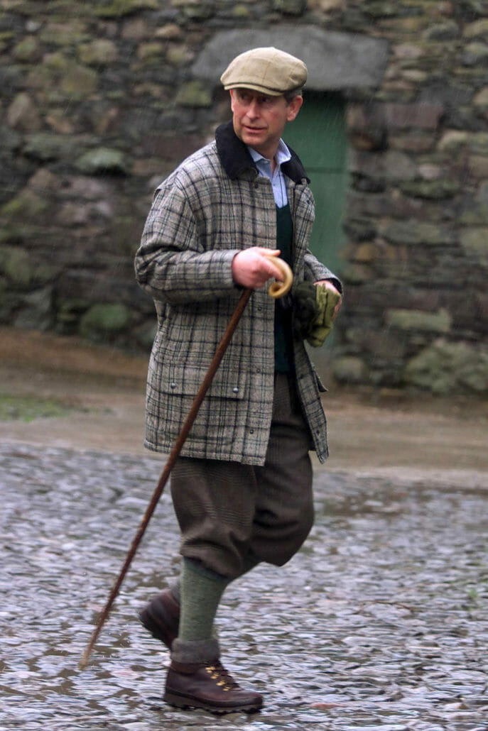 The flat cap has its origins in British rural clothing.