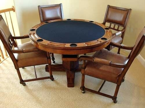 A solid cards table