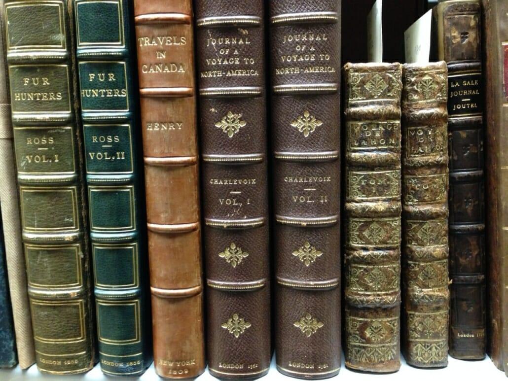 Leather bound travel books