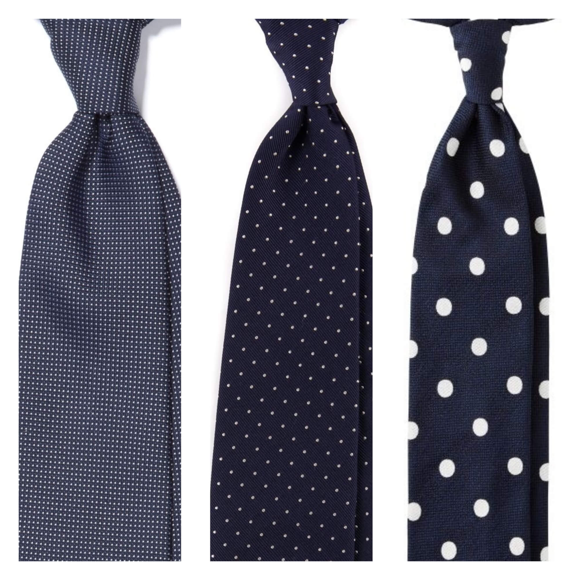 Bright Red with Textured Large Polka Dots Tie Set