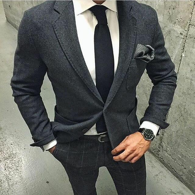 Grey what colour trousers jacket with Ask MH: