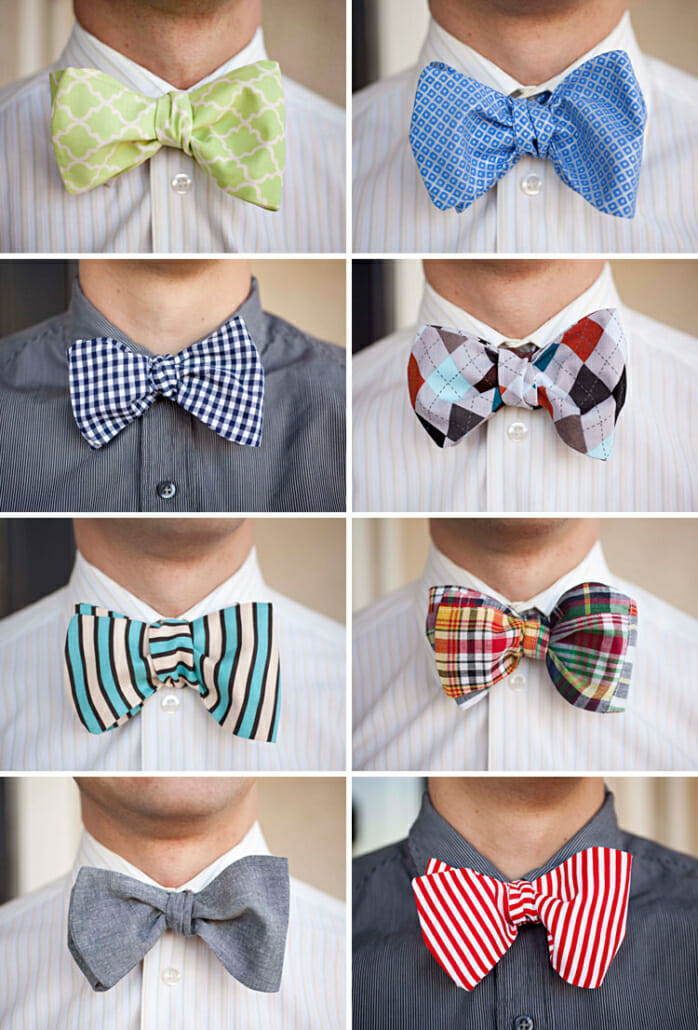 Too loud and large bow ties