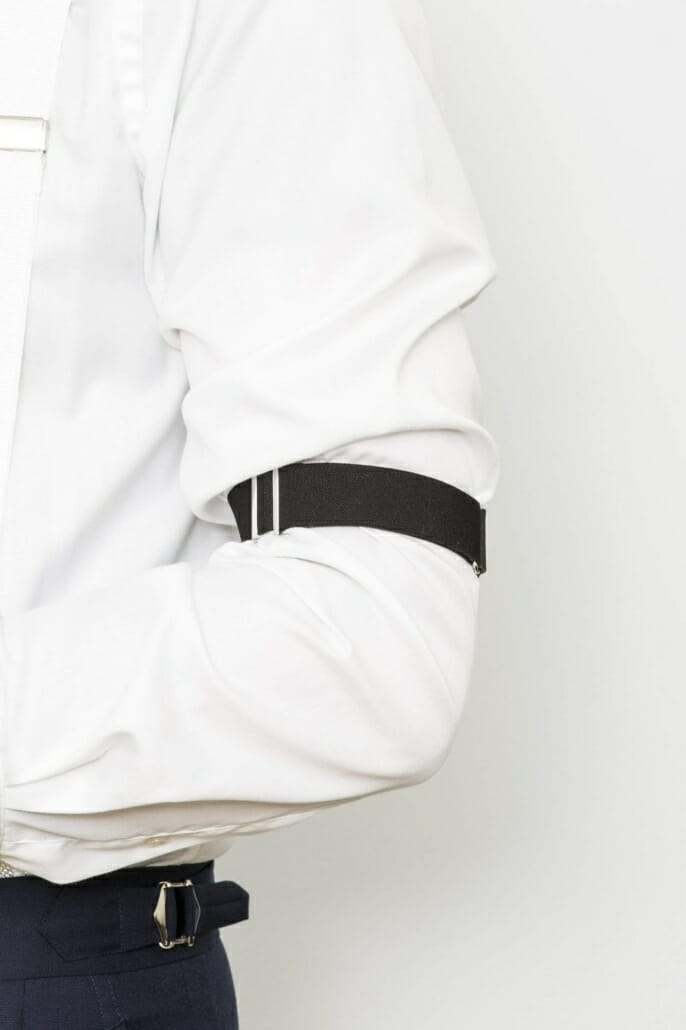 Elastic sleeve garter