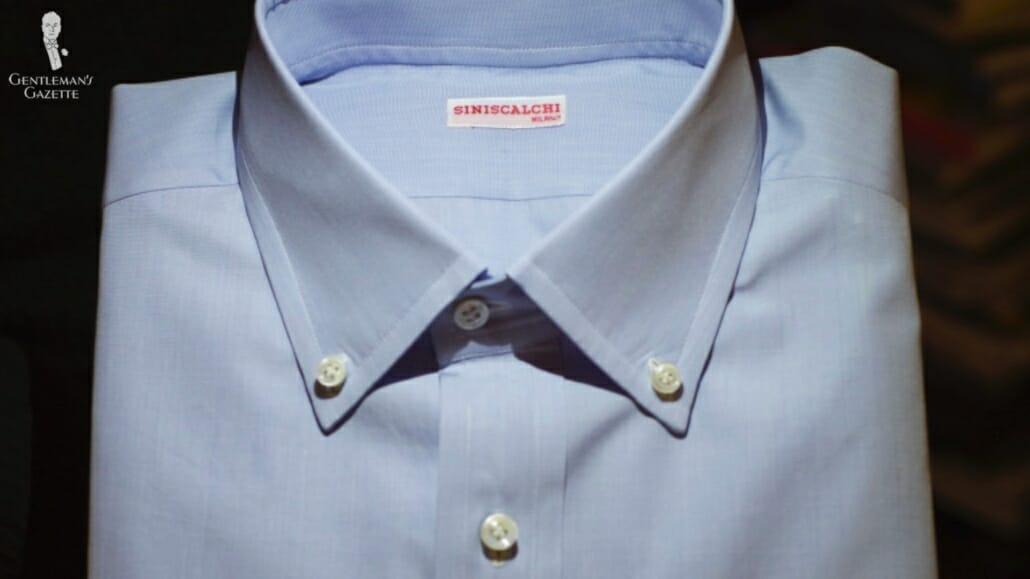 Siniscalchi in Milano bespoke dress shirt