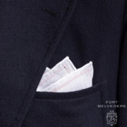 White and pink Fort Belvedere pocket square