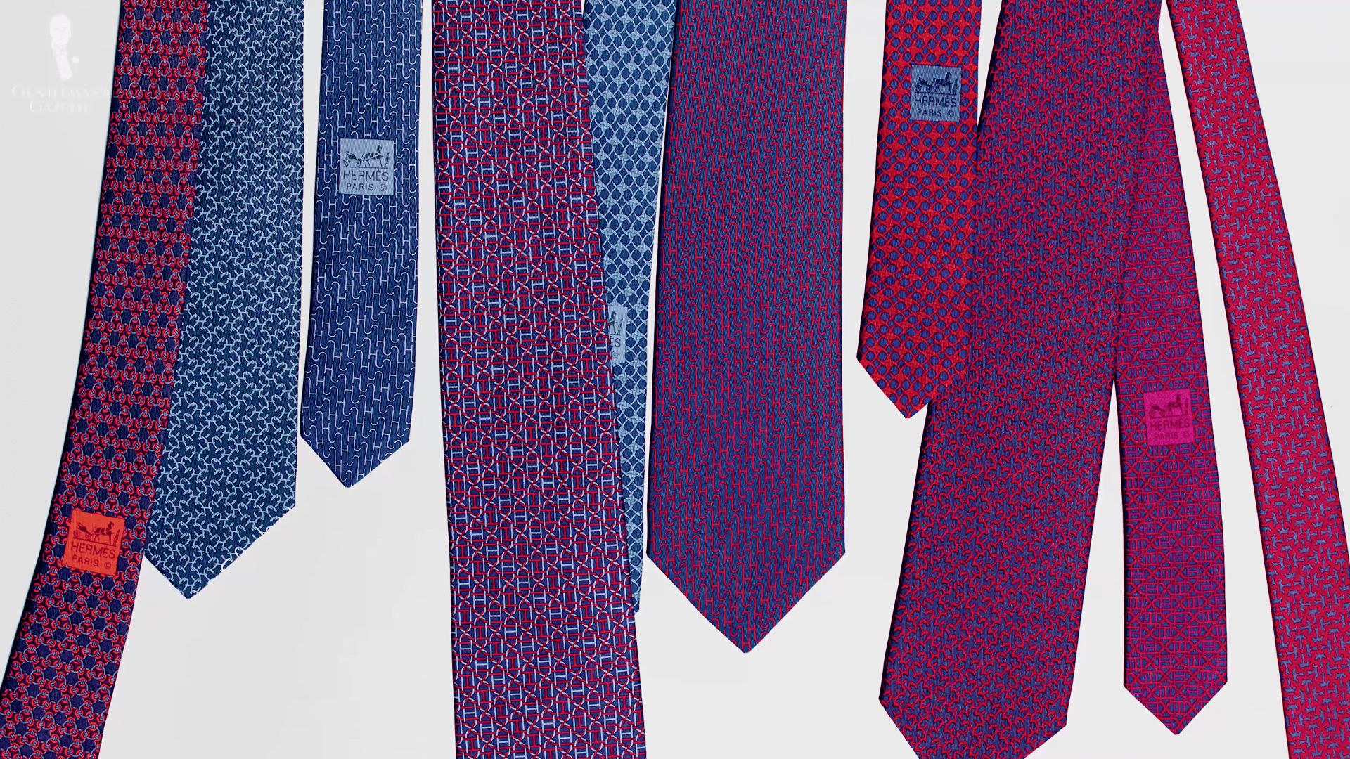 Colorful Goat Head Classic Men Silk Tie Woven Jacquard Neck Ties