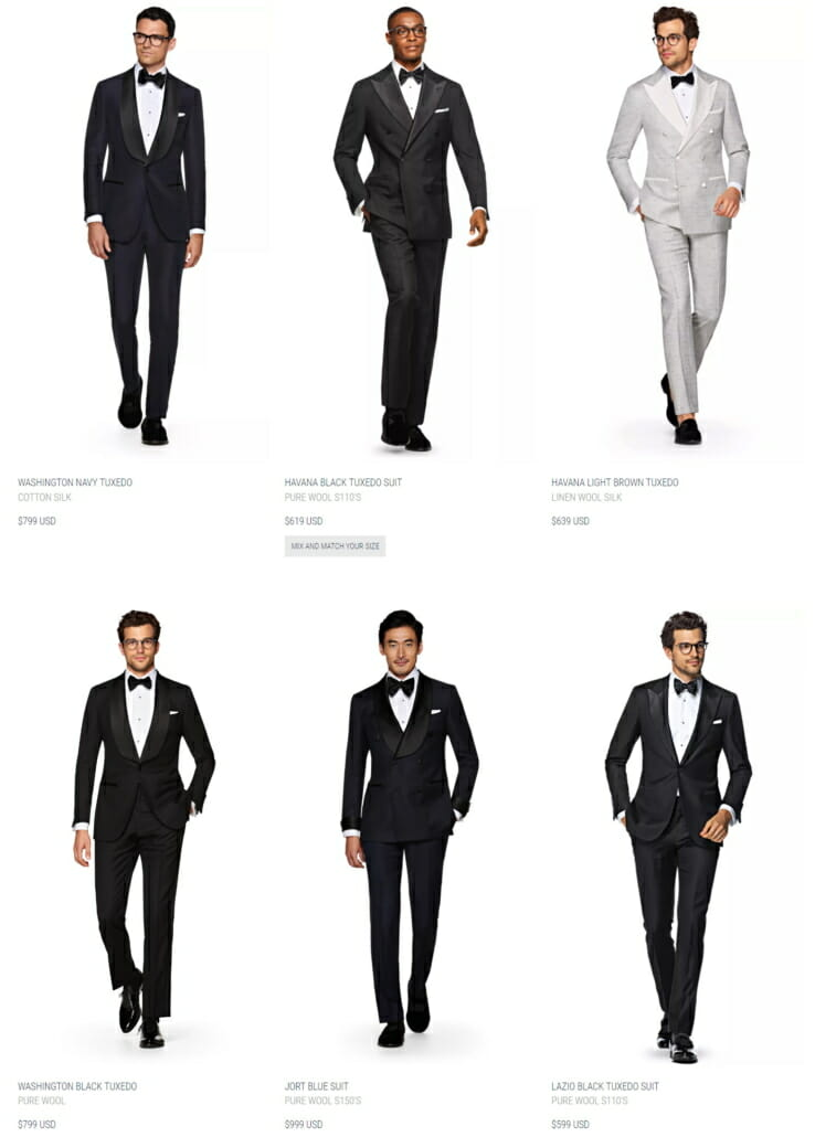 $400 - 800 Range Tuxedos from Suitsupply