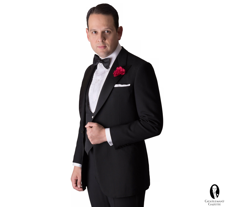 BOWTIE Solid BLACK Color Men/'s Bow Tie for Tuxedo or Suit