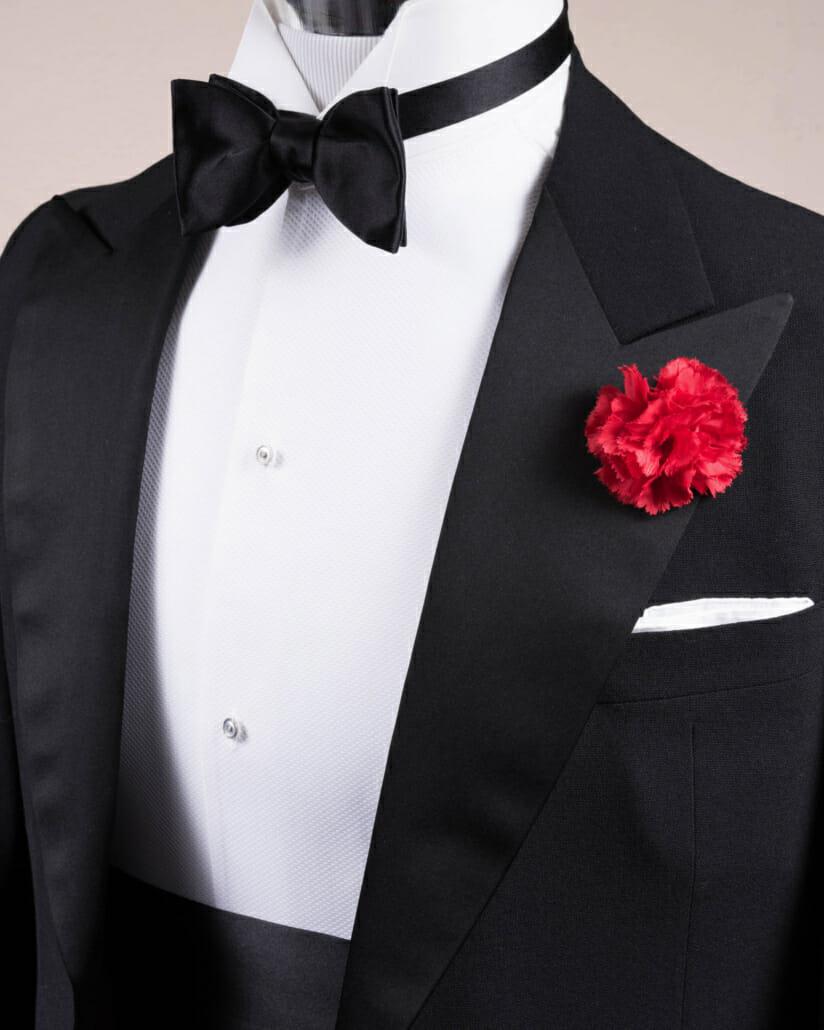Cuff Links /& Studs Set Wing Collar Tuxedo Shirt Cummerbund Bow-Tie