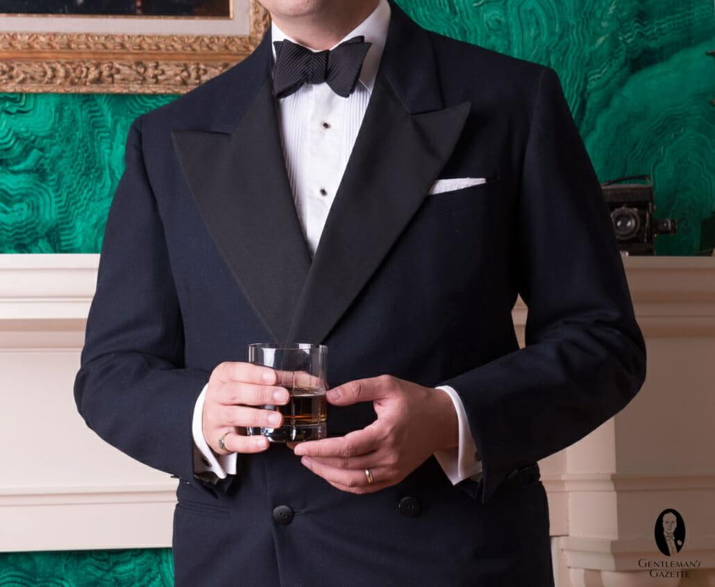 Black Tie Tuxedo Accessories Cufflinks Studs Gloves Etc