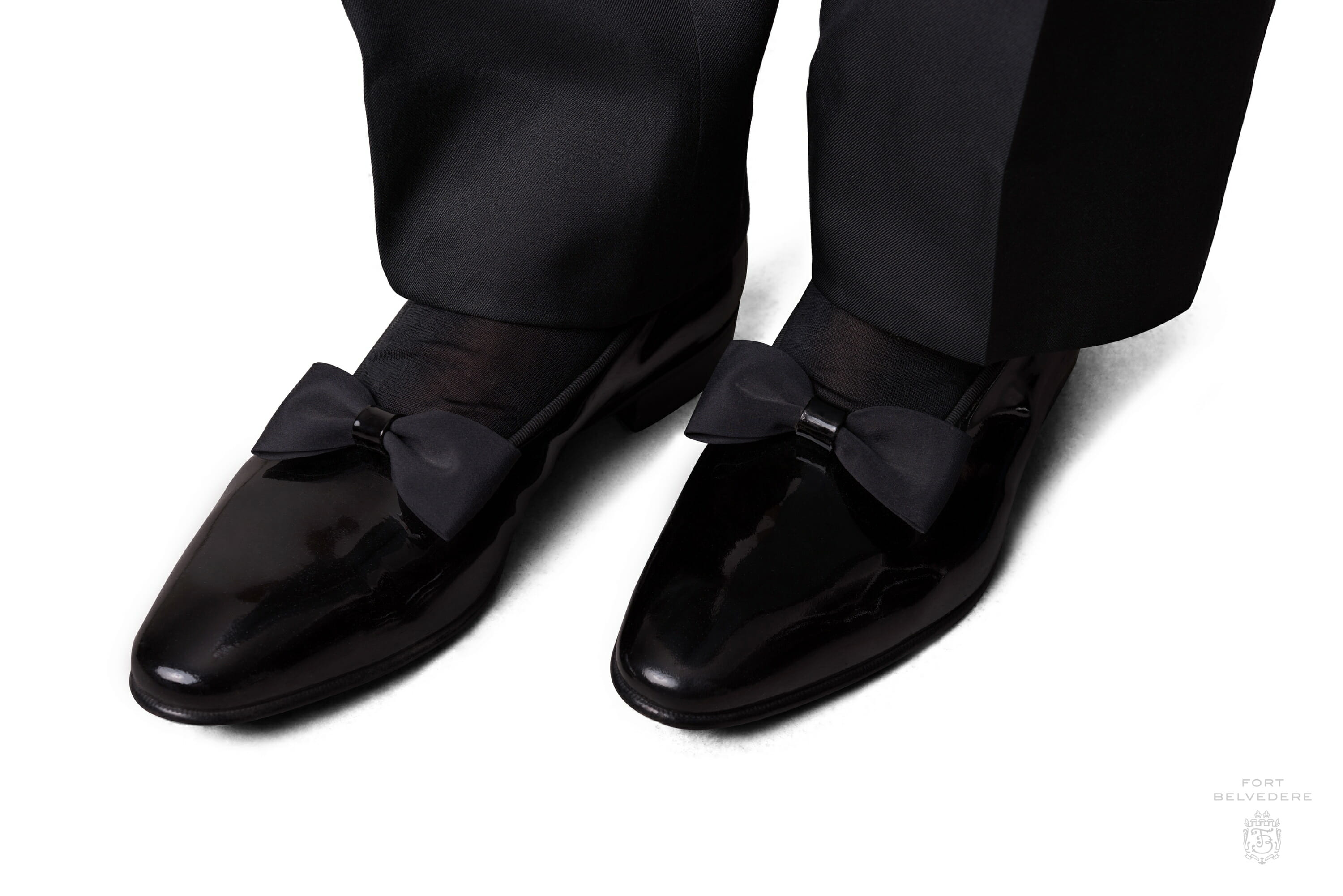 New Black Striped Satin Top Patent sided Oxfords Tuxedo dress shoes