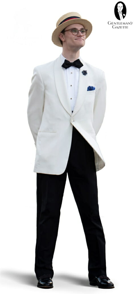 Preston wearing an ensemble perfect for Warm Weather Black Tie