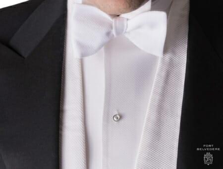 Men/'s Ivory Tuxedo Shirt Wing Collar Pleated Front Off-White Bone Formal