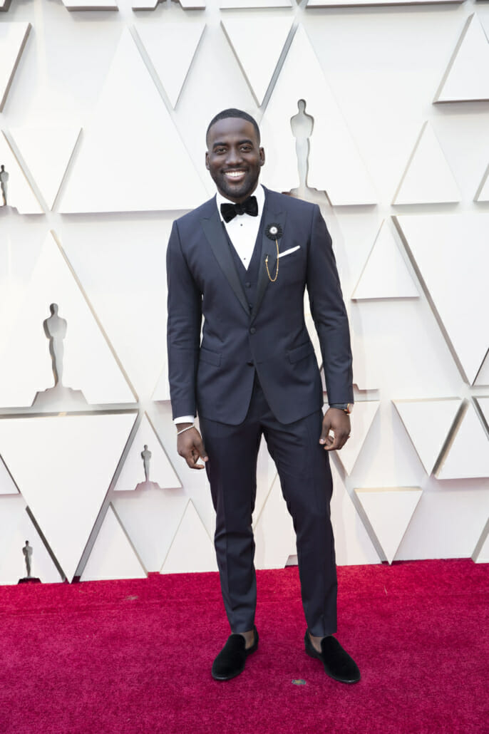 aac327250432 The cumulative effect of Shamier Anderson s outfit is that of a  contemporary suit  he wears a two-button