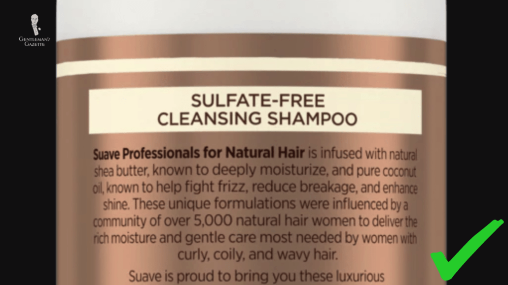 Sulfate free shampoo is always your best option