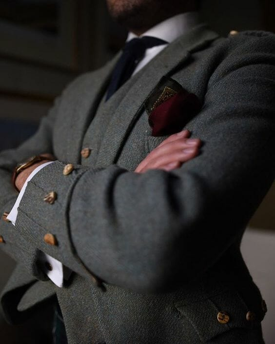 Black Leather Buttons Set For Blazer or Sport Coat